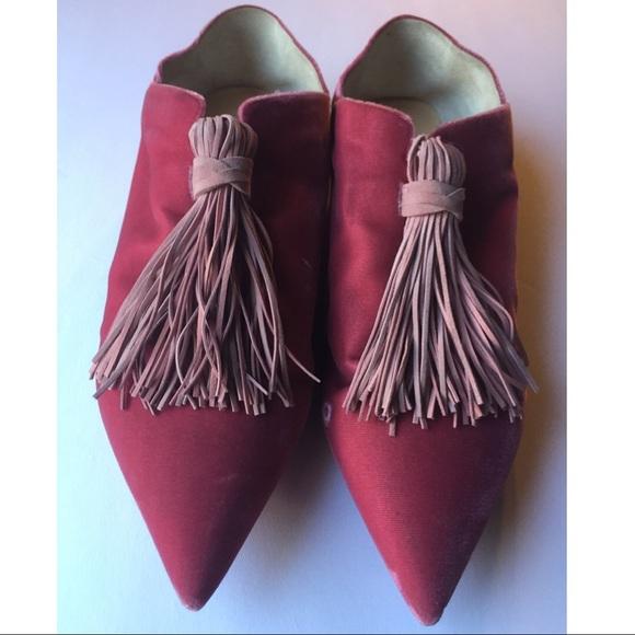 3ca0b877427b Christian Louboutin Shoes - Christian Louboutin pink suede tassel flat